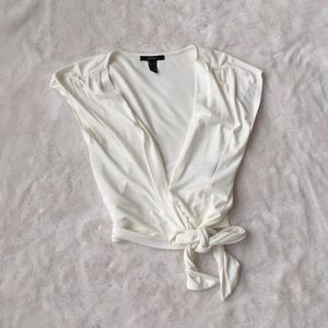 Forever 21 wrap crop top size M